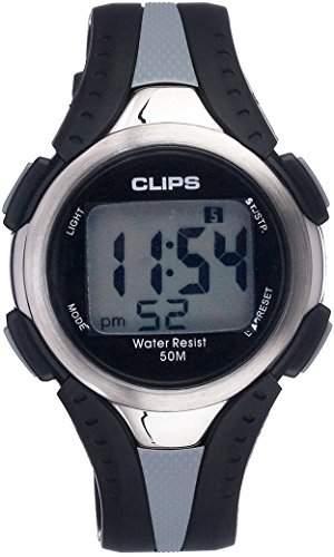 Clips Herren-Armbanduhr Digital Quarz Kautschuk 539-6000-48