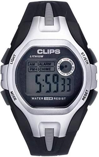 Clips Herren-Armbanduhr Digital Quarz Kautschuk 539-6001-84