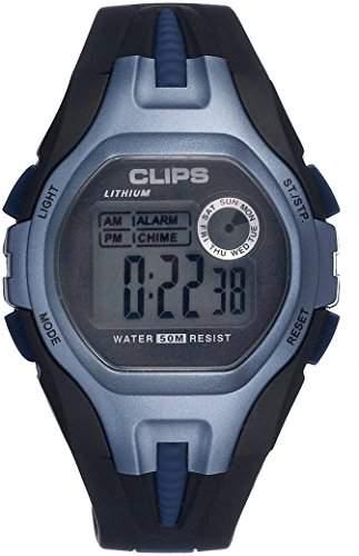 Clips Herren-Armbanduhr Digital Quarz Kautschuk 539-6001-94