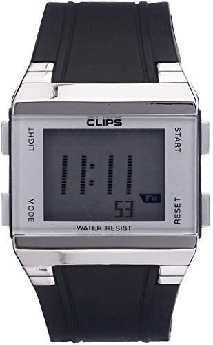 Clips Herren-Armbanduhr Digital Quarz Kautschuk 539-6003-84