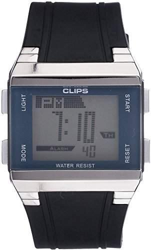 Clips Herren-Armbanduhr Digital Quarz Kautschuk 539-6003-94