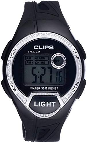 Clips Herren-Armbanduhr Digital Quarz Kautschuk 539-6004-84