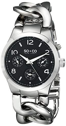 SO & CO New York Damen-Armbanduhr Analog Quarz Edelstahl 50135