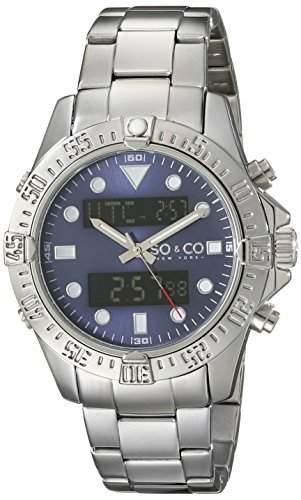 SO & CO New York Herren-Armbanduhr Yacht Club Analog Digital Quarz Edelstahl 50172