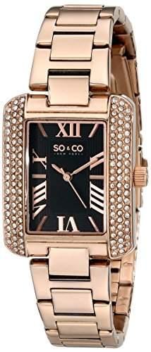 SO & CO New York Damen-Armbanduhr Madison Analog Quarz Edelstahl 50202