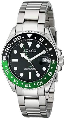 SO & CO New York Herren-Armbanduhr Yacht Club Analog Quarz Edelstahl 50211