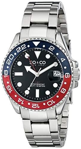 SO & CO New York Herren-Armbanduhr Yacht Club Analog Quarz Edelstahl 50212