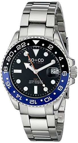 SO & CO New York Herren-Armbanduhr Yacht Club Analog Quarz Edelstahl 50213