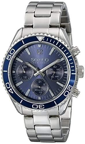 SO &CO New-York - 50262 Herren Uhr-Quarz-Analog Edelstahl Silber