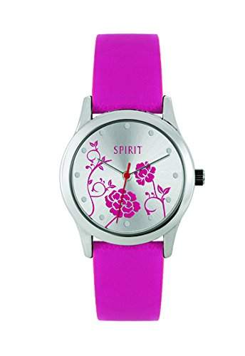 Spirit Damen-Armbanduhr Analog Plastik Rosa ASPL53