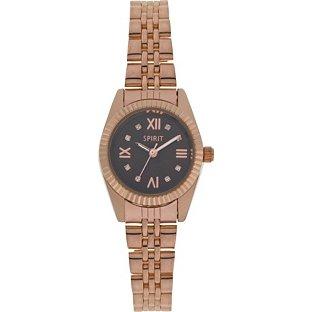 Spirit Womens Armbanduhr Analog Quarz Edelstahl Rose Gold Armband ASPL71