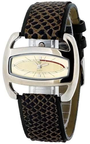 At Time Damen-Armbanduhr Analog Quarz Leder 422-1005-23