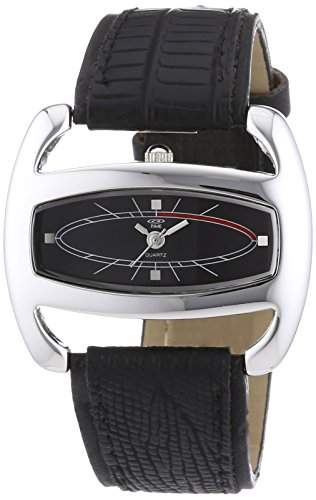 At Time Damen-Armbanduhr Analog Quarz Leder 422-1005-44