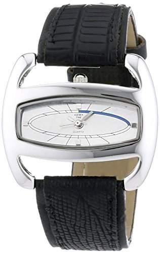 At Time Damen-Armbanduhr Analog Quarz Leder 422-1005-84