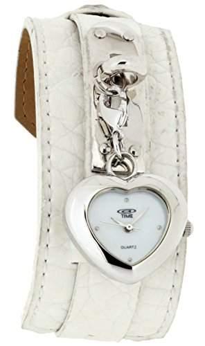 At Time Damen-Armbanduhr Analog Quarz Leder 422-1007-11