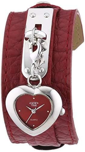 At Time Maedchen-Armbanduhr Analog Quarz Leder 422-1007-77