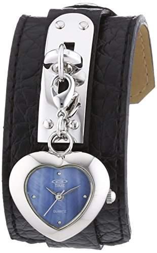 At Time Damen-Armbanduhr Analog Quarz Leder 422-1007-94