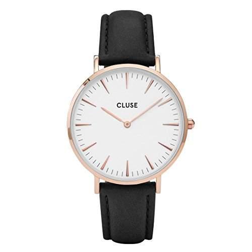 Cluse Damen-Armbanduhr Analog Quarz Leder CL18008