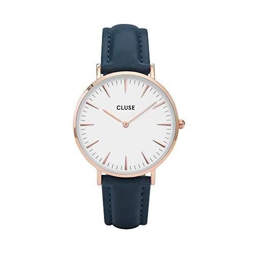 Cluse Damen-Armbanduhr Analog Quarz Leder CL18016