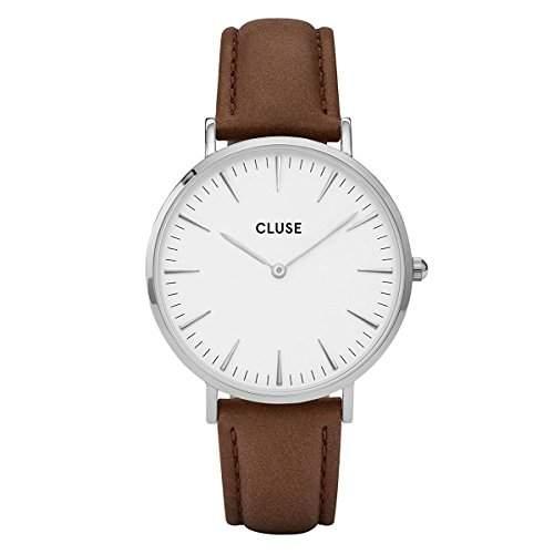 Cluse Unisex-Armbanduhr Analog Quarz Leder CL18210