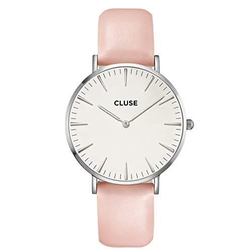 Cluse Damen-Armbanduhr Analog Quarz Leder CL18214