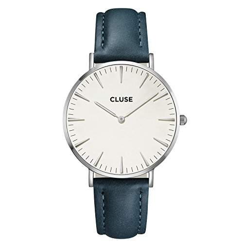 Cluse Damen-Armbanduhr Analog Quarz Leder CL18216