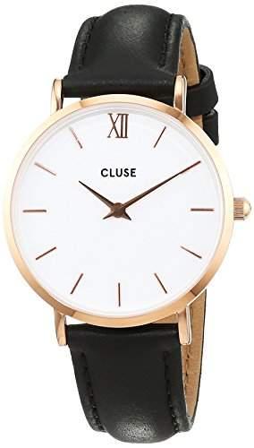 Cluse Unisex-Armbanduhr Analog Quarz Leder CL30003