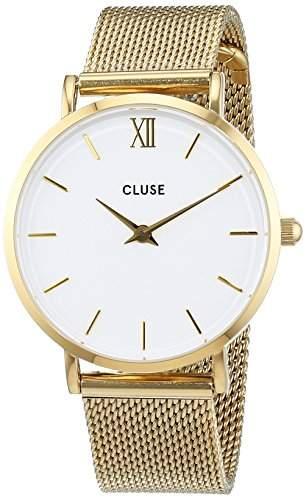 Cluse Unisex-Armbanduhr Analog Quarz Edelstahl CL30010