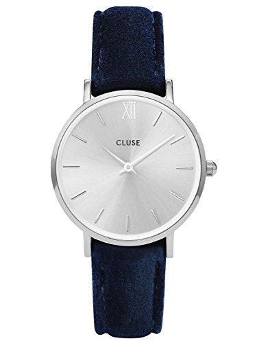 Cluse CL30041 Damenarmbanduhr Minuit Silver Blue Velvet CL30041 Da