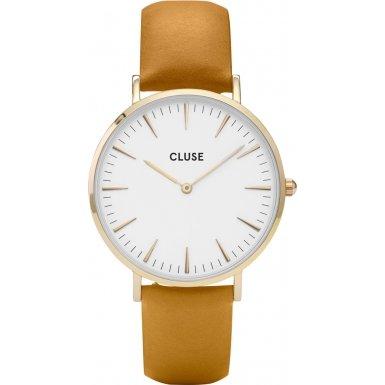 Cluse La Boheme Gold White Mustard Armbanduhr CL18419