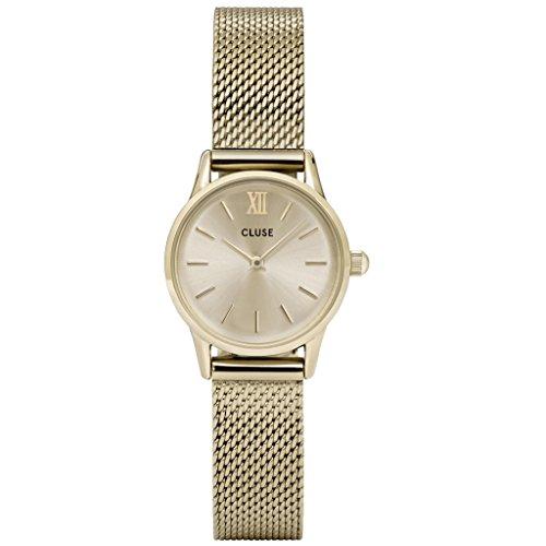 CLUSE CL50003 La Vedette Mesh Full Gold Uhr Edelstahl vergoldet 3 bar Analog gold