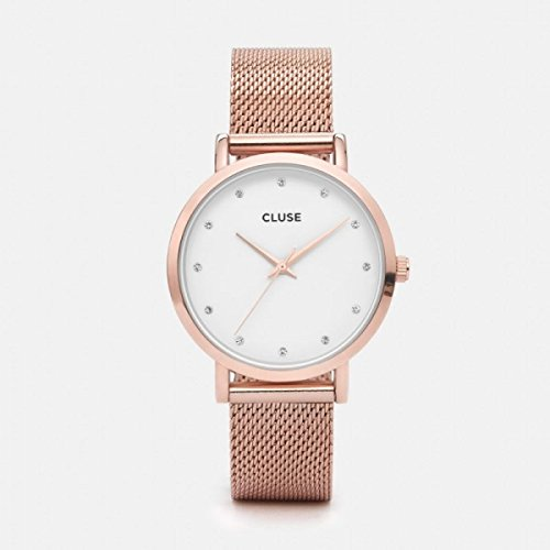 Cluse Damen Armbanduhr Analog Quarz Edelstahl CL18303