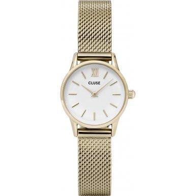 Cluse La Vedette Mesh Gold White CL50007
