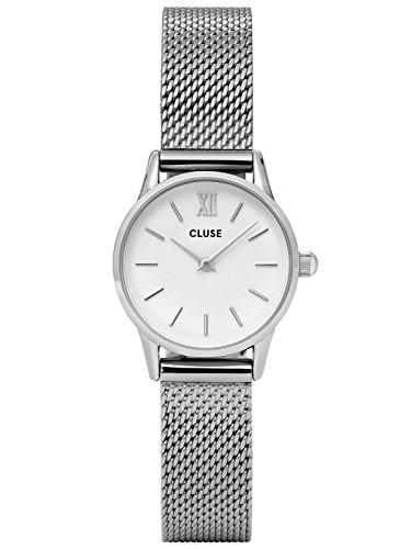Cluse Damenarmbanduhr La Vedette Mesh Silver White CL50005