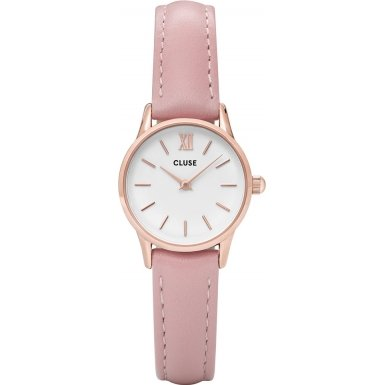 Cluse Damenarmbanduhr La Vedette Rose Gold White Pink CL50010