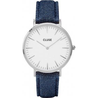 Cluse La Boheme Silver White Denim CL18229