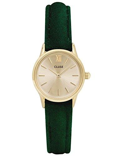 Cluse Damenuhr La Vedette Gold Green Velvet CL50016