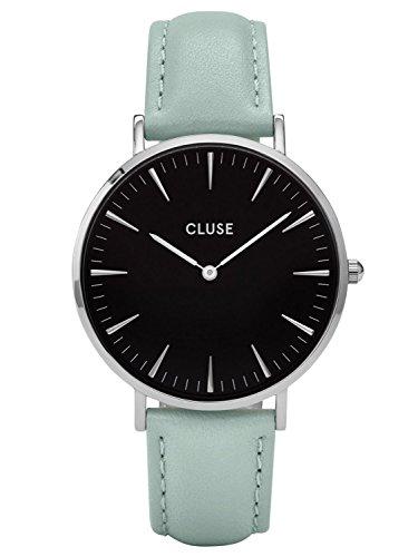 Cluse La Boheme Silver Black Pastel Mint Uhr CL18226