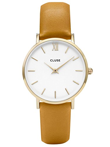 Cluse Minuit Gold White Mustard CL30034