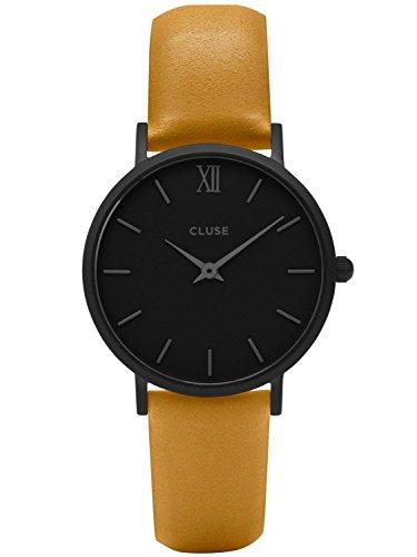 Cluse Minuit Full Black Mustard Damenarmbanduhr CL30033