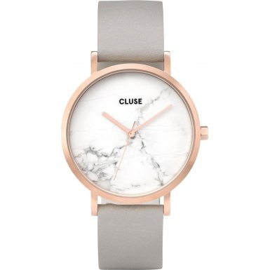 CLUSE La Roche Rose Gold White Marble Grey Armbanduhr Damen CL40005