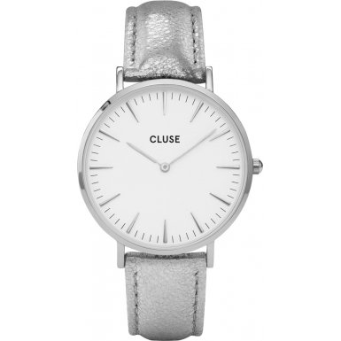 Cluse Damenuhr La Boheme Silver White Silver Metallic CL18233