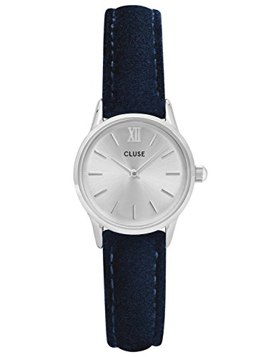 Cluse Damenuhr La Vedette Silver Blue Velvet CL50017