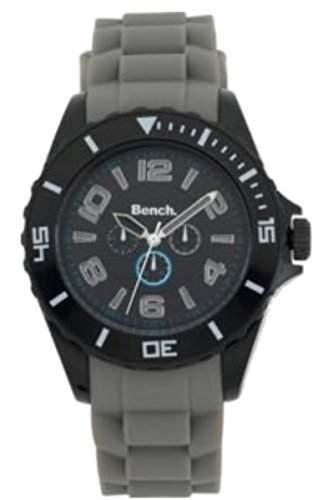 Herren Sitzbank Schwarz Chronograph Silikon-armband-uhr Telefonisch BC0343GY