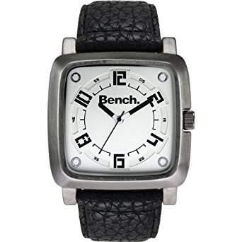 Bench Herren-Armbanduhr 94 Analog Plastik Schwarz BC0400WHBK