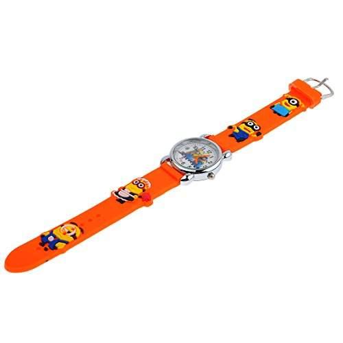 Despicable Me Schutzhuelle Gummi-Armbaender hergestellt, Form rund, Mini Armbanduhr fuer Kinder Random pattern