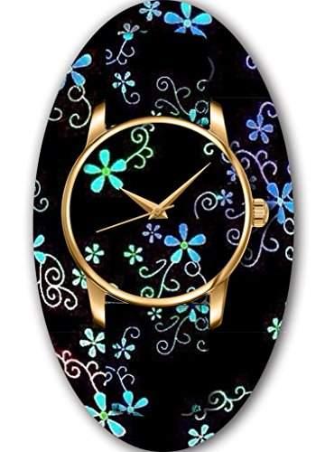 OUO Damen Maedchen -Armbanduhr Analog Analog Quarz Leder 15-WATCH-JIN-PK15