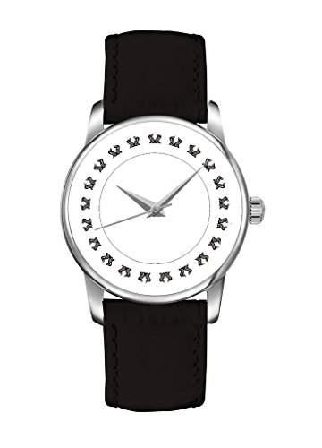 OUO Damen Maedchen -Armbanduhr Analog Analog Quarz Leder 18-WATCH-YIN-BG4RF18