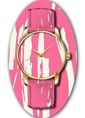 OUO Damen Maedchen -Armbanduhr Analog Analog Quarz Leder 25-WATCH-JIN-PR25