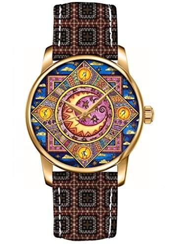 Neu 2015 Aztenkenmuster Armband Quarz Analog Armbanduhr Damenuhr Damen Uhr